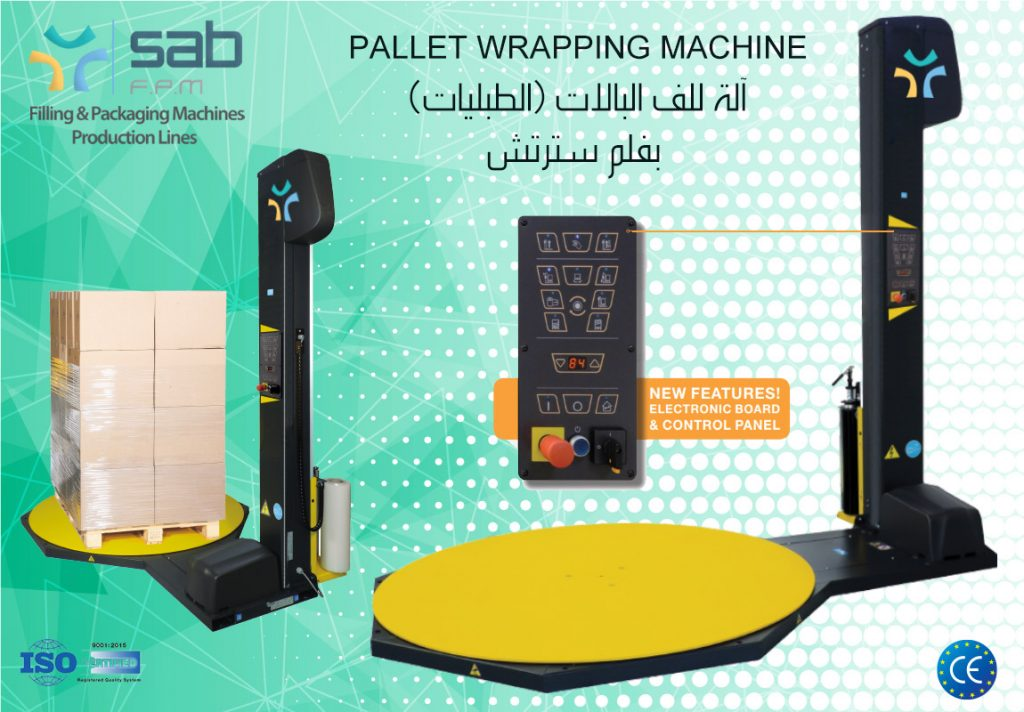 Pallet wrapper with stretch film